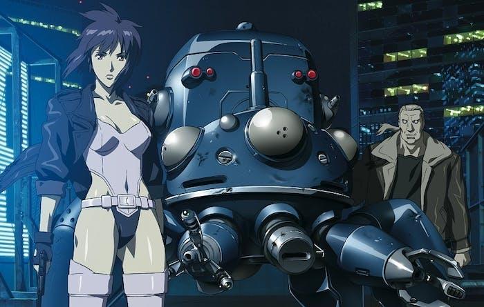 The Major with a Fuchikoma and Batou
