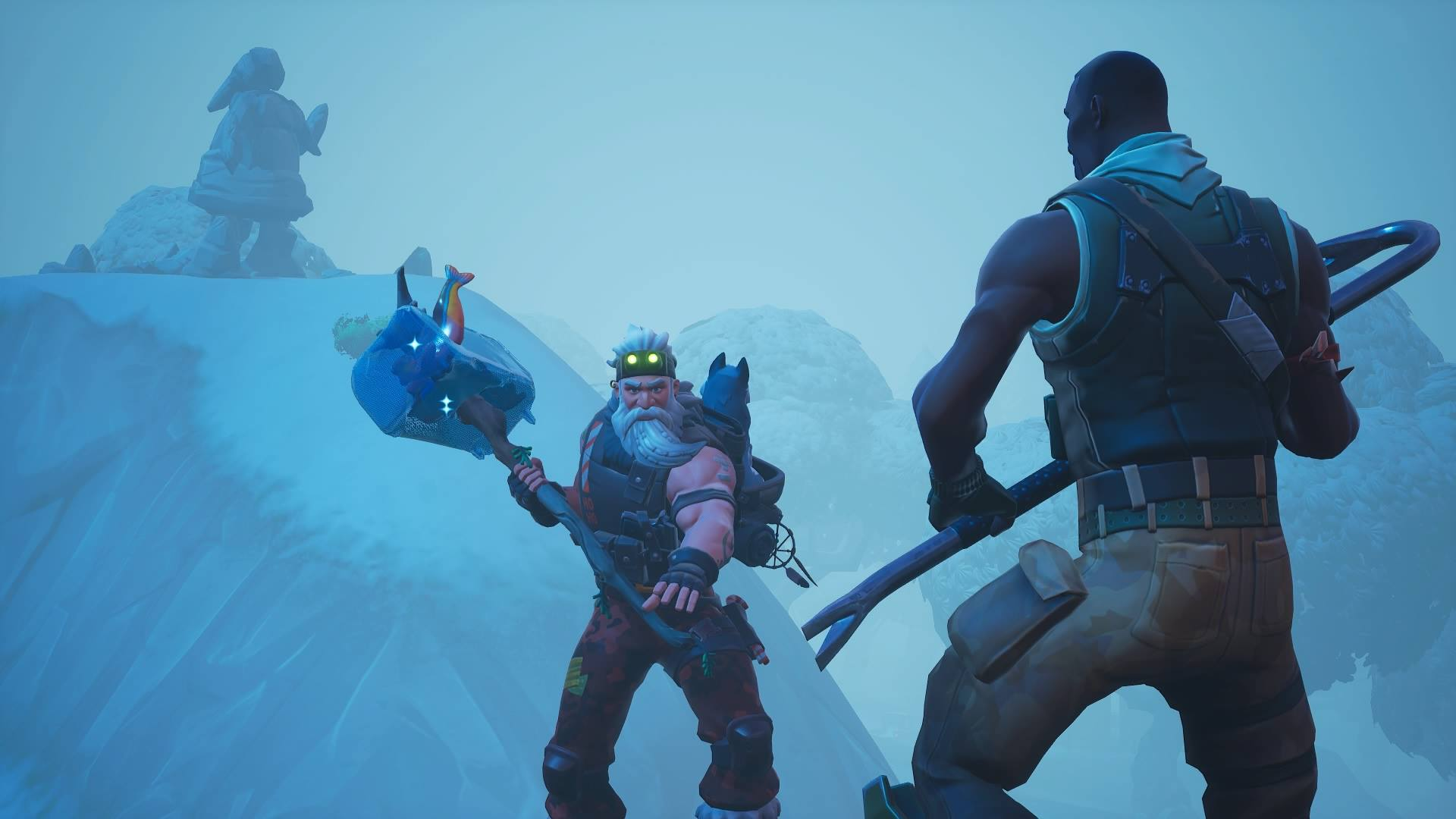 Fortnite' Search Between Mysterious Hatch, Giant Rock Lady, and