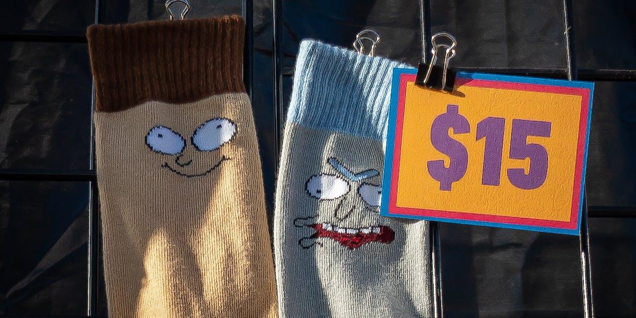 Rick and Morty Socks at Comic-Con 2019