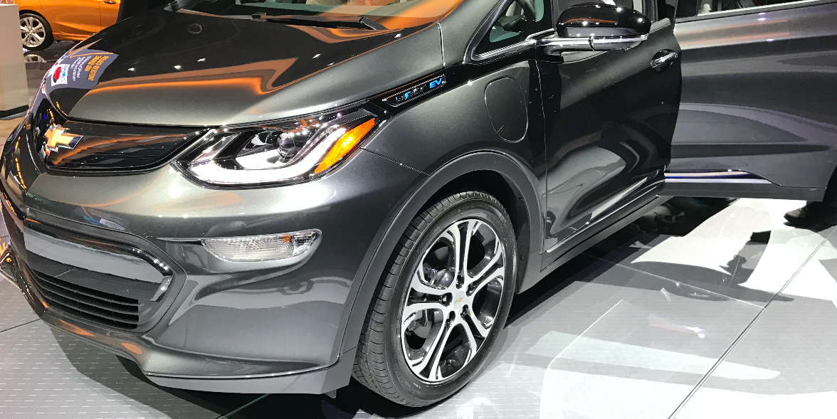 The Chevy Bolt at the 2017 North American International Auto Show in Detroit.