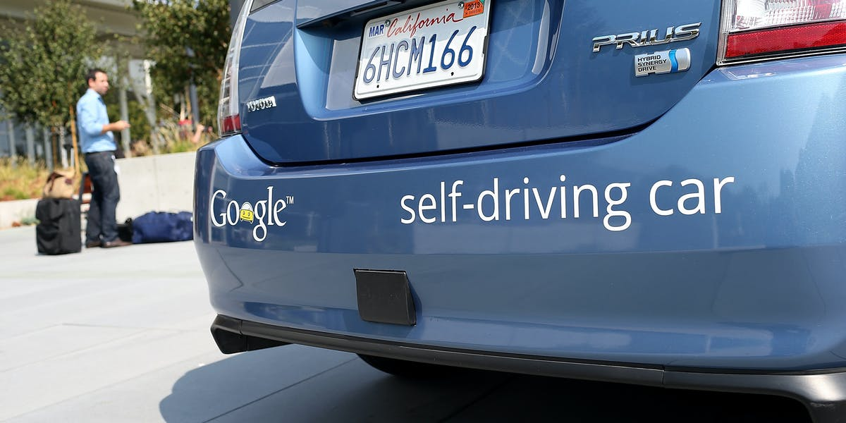 Google's 2012 self-driving car prototype.