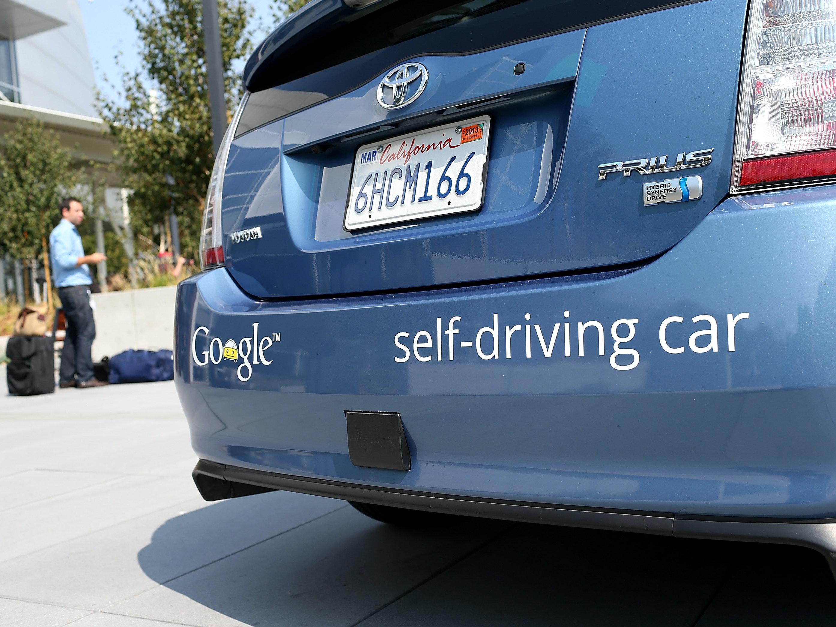 Google's 2012 self-driving car prototype.