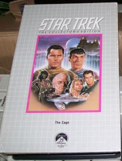 "90's VHS copy of Star Trek's ""The Cage"""
