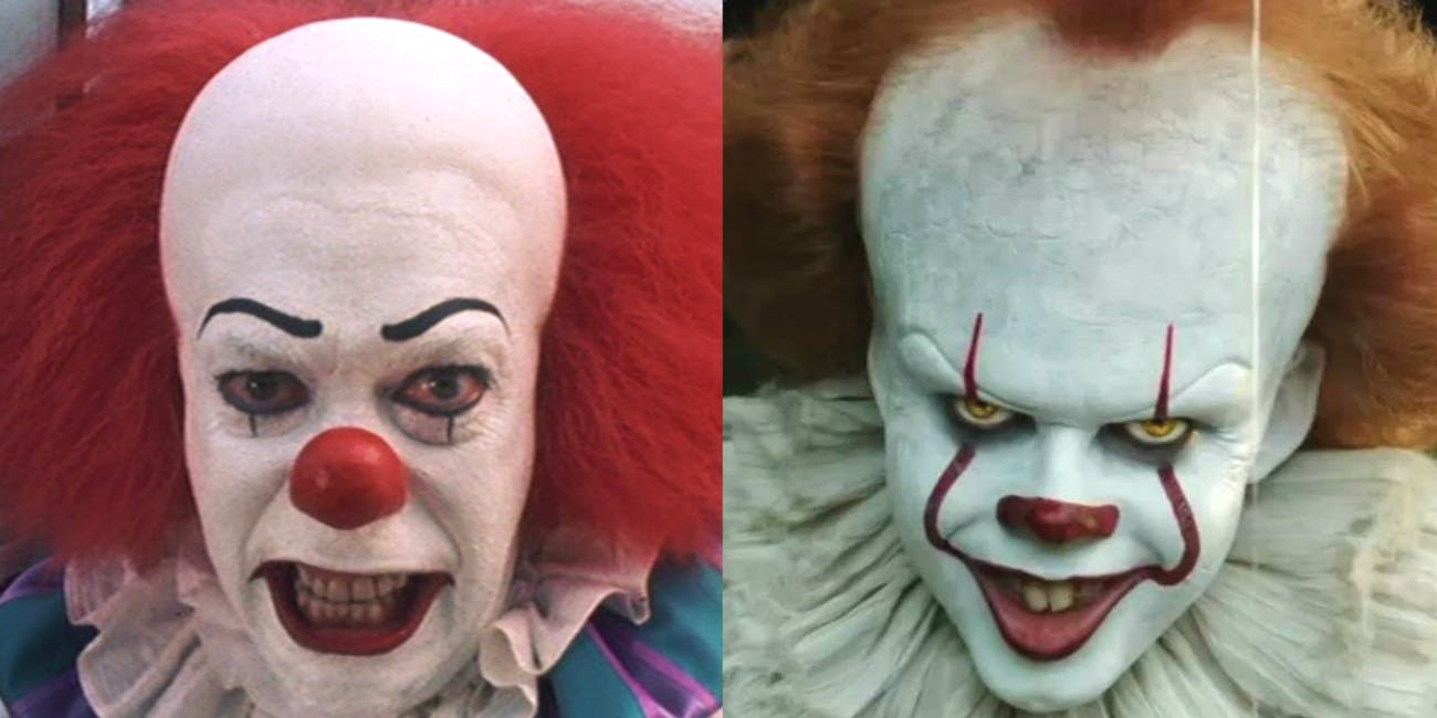 Pennywise in the 'It' TV miniseries and film.