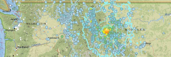 Montana Earthquake How To Read The USGS Earthquake Map Inverse - Map montana