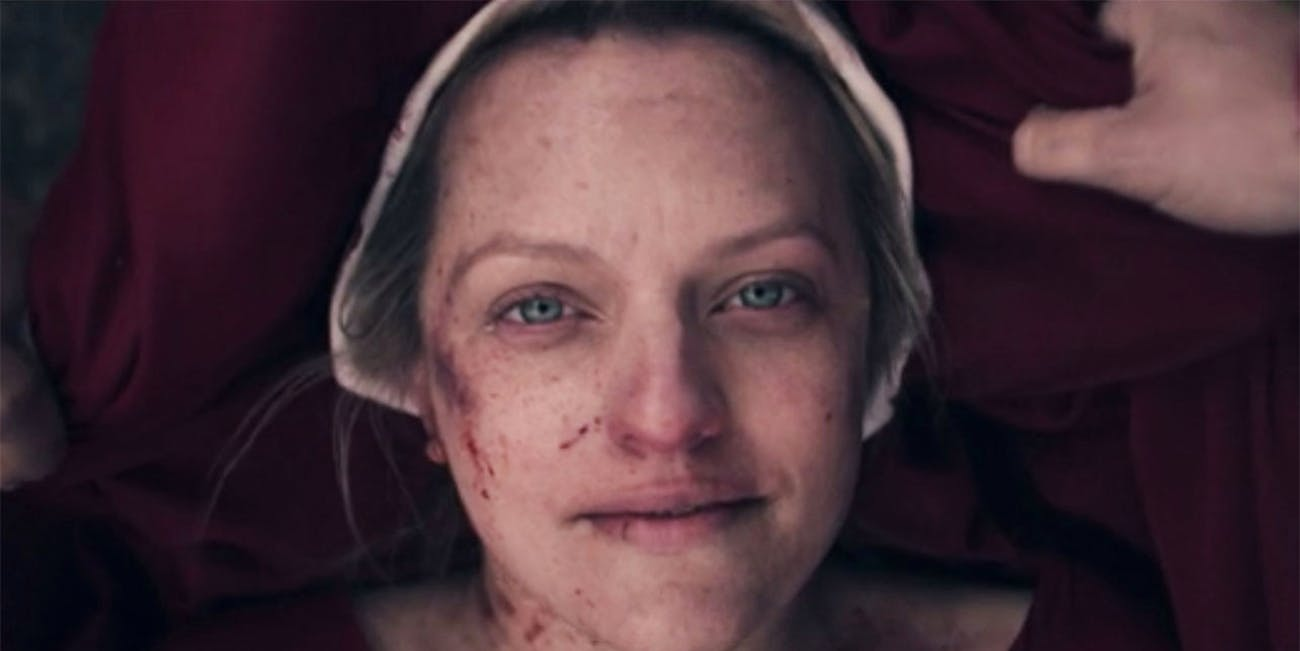 A bloodied June in the Season 3 finale of The Handmaid's Tale.