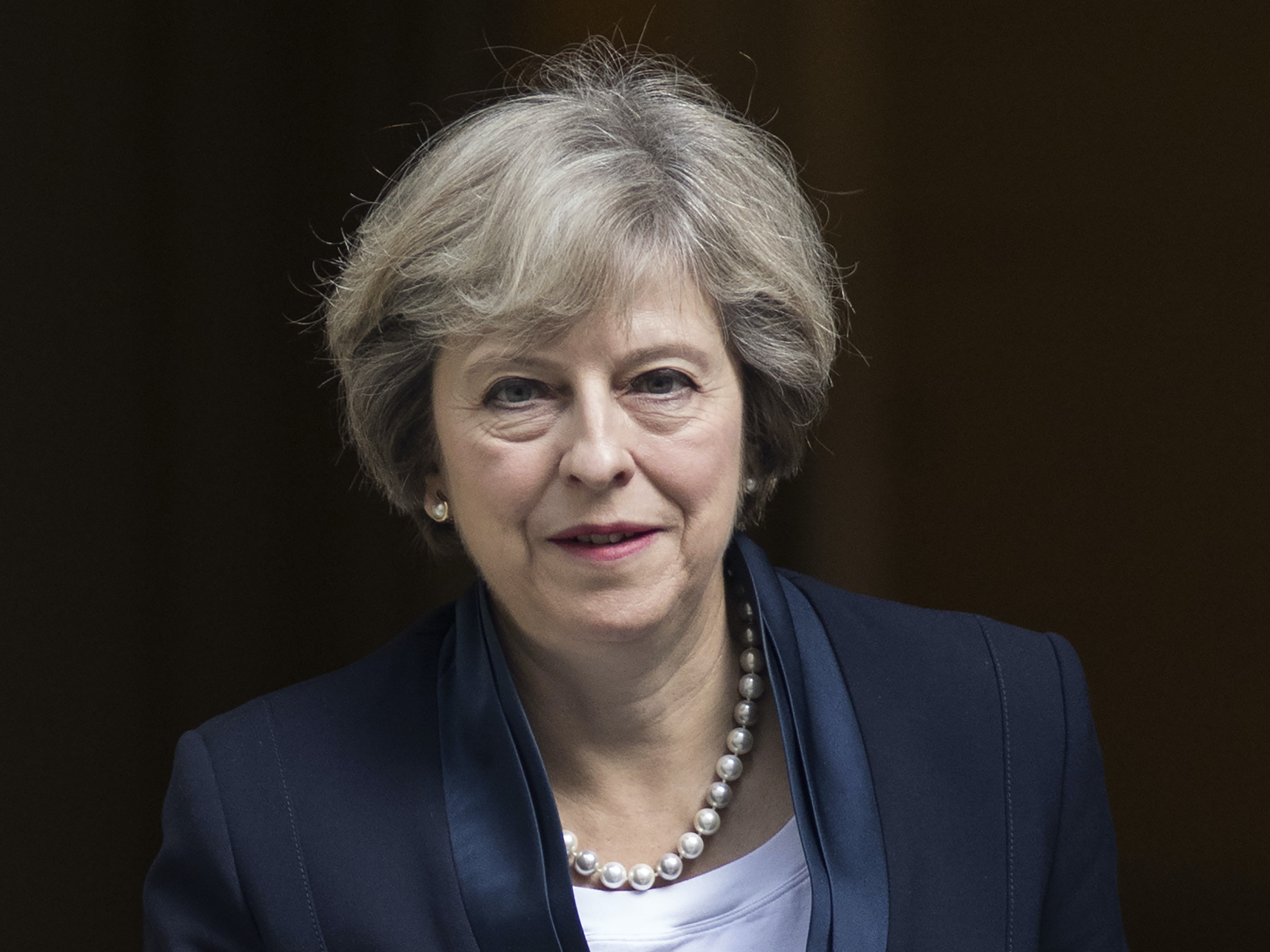 British Prime Minister Theresa May leaves 10 Downing Street to attend the weekly Prime Ministers Questions on September 14, 2016 in London, England. This weeks PMQ's will be the last for three weeks as the county's various political parties hold their annual conferences.