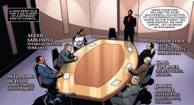 """T'Challa consults the """"evil"""" nations of the Marvel Universe on a specific matter in 'Black Panther'."""