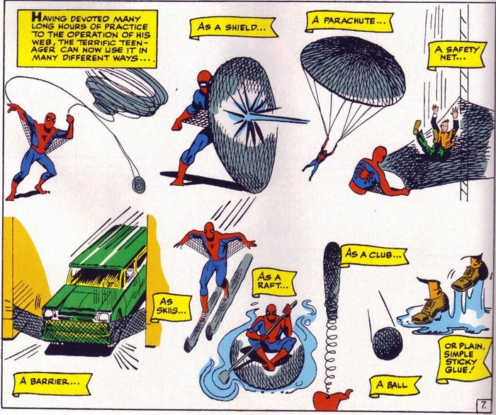 Spider-Man gets really creative with uses for his webbing.