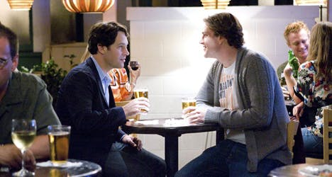 In 'I Love You, Man,' a heterosexual male relationship toes the line of homosexual romance with a nudge from alcohol.