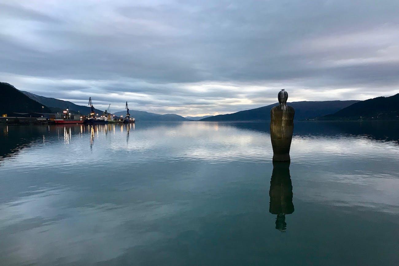 Mo i Rana lies at the end of a fjord.