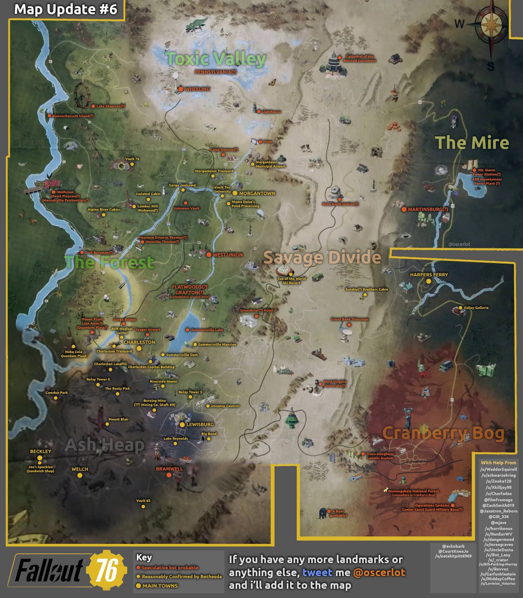 Fallout 76' Full Map: Our Best Look Yet at the Massive New
