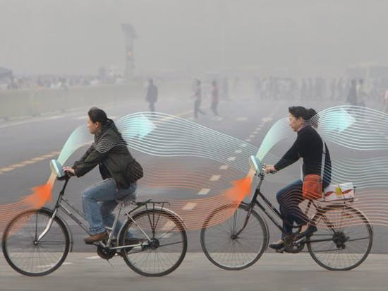 Smog-Scrubbing Bicycle Mounts Introduced for China