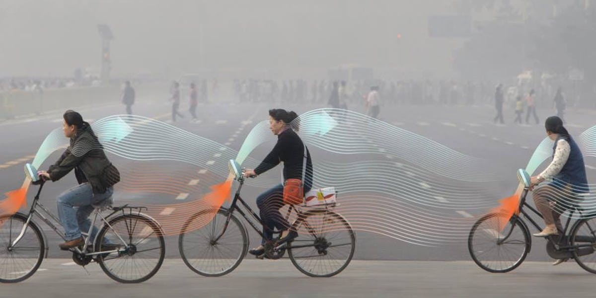 Studio Roosegaarde smog-busting bicycle