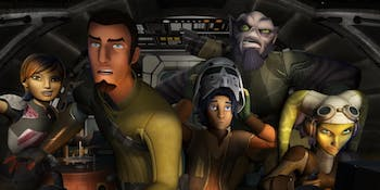 The crew of the Ghost in 'Star Wars Rebels'