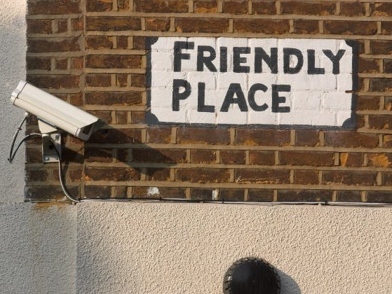 This CCTV camera sends mixed messages.