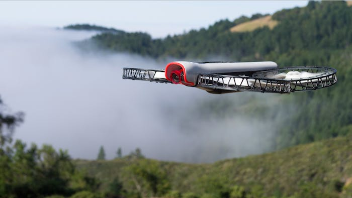 The Snap drone flies safely above what we are assuming is a cloud of pot smoke.