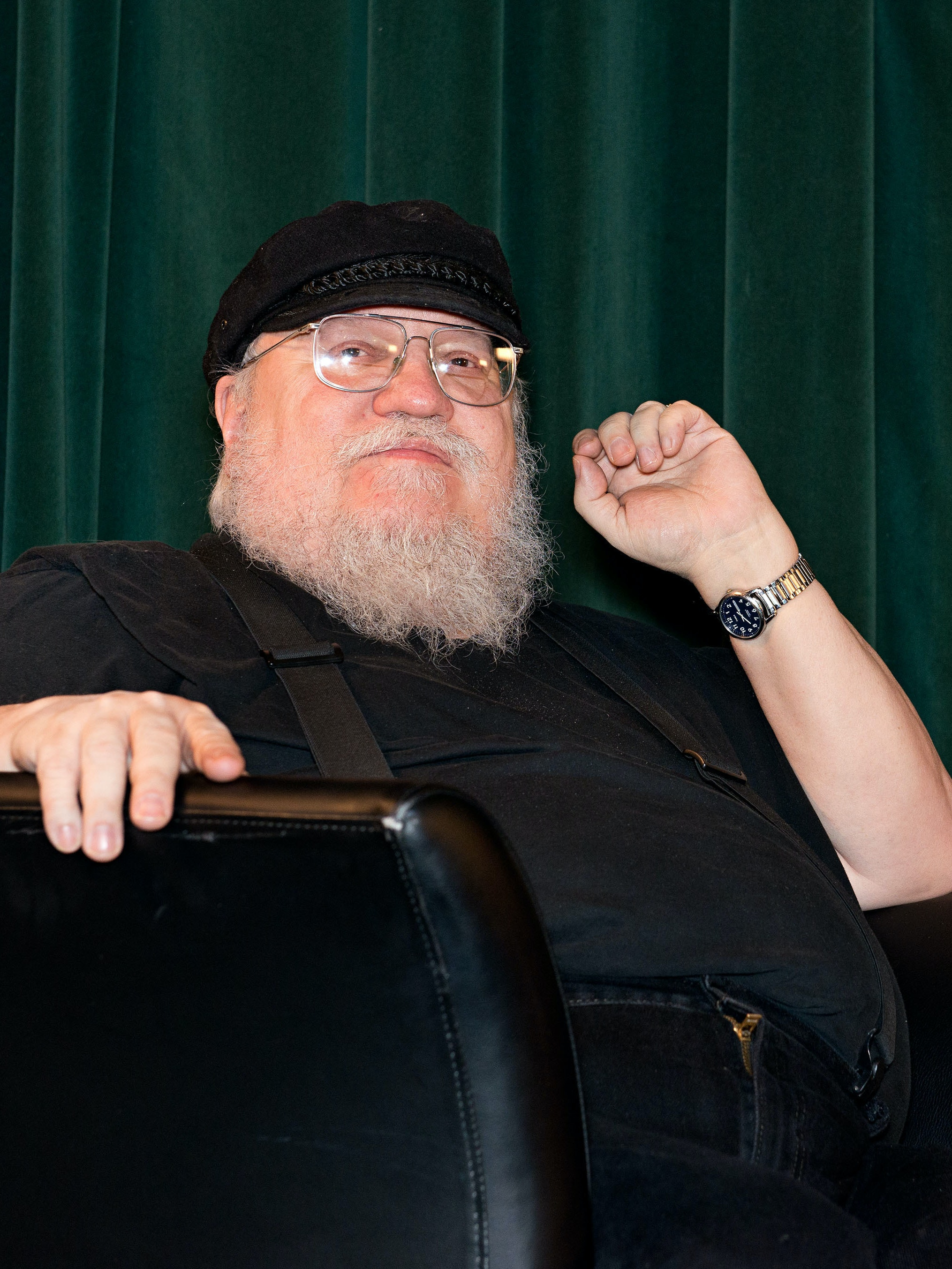SANTA FE, NM - FEBRUARY 23:  Writer George R. R. Martin participates in a Q & A session following SundanceTV's 'Hap & Leonard' Screening at the Jean Cocteau Theater on February 23, 2016 in Santa Fe, New Mexico.  (Photo by Steve Snowden/Getty Images for AMC Networks)