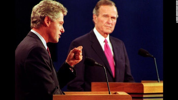 The environment became the hottest debate topic for Clinton and Bush in the 1992 elections.