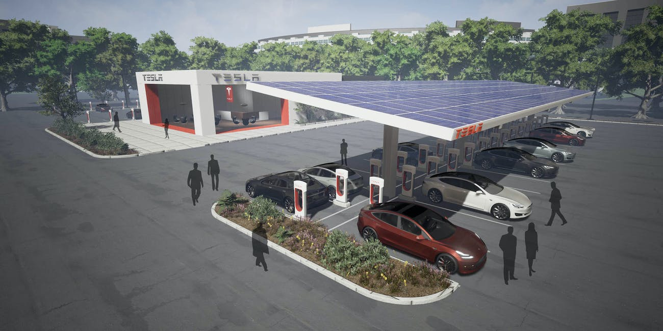 Tesla is About to Reveal Mega Supercharger Stations