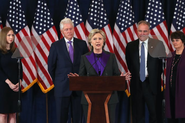 Former Secretary of State Hillary Clinton conceded the election on the morning of November 9.