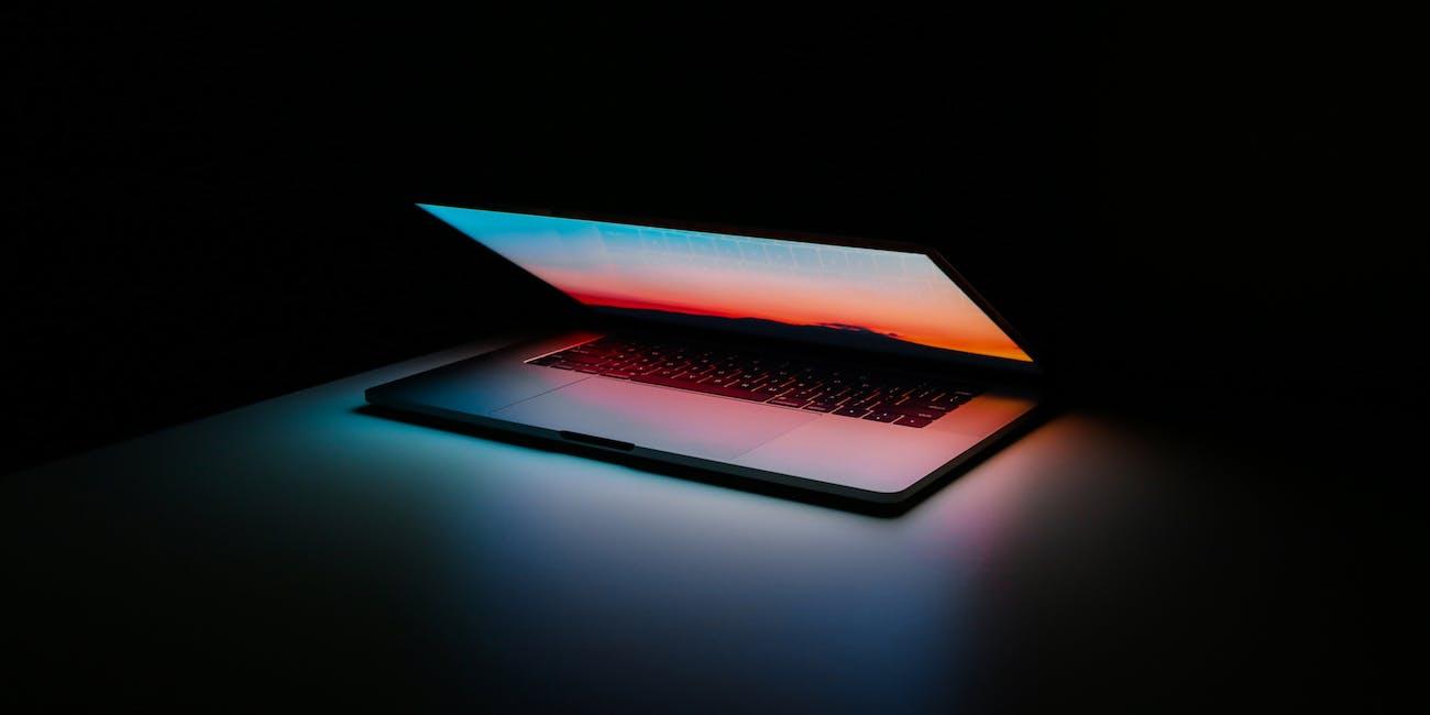 MacBook glowing