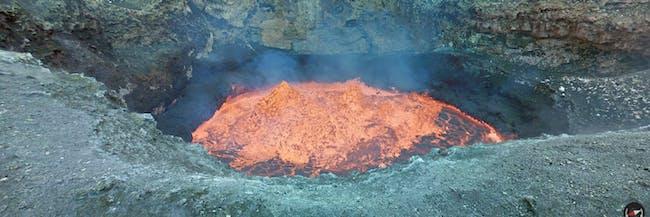 Google Street View Lava Active Volcano