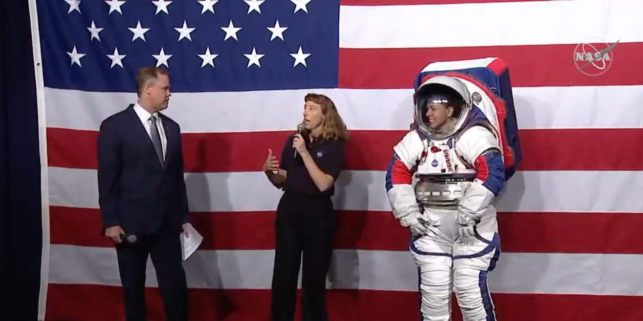 Spacesuit designer Amy Ross explains how the upgraded models allow for more mobility on the lunar surface