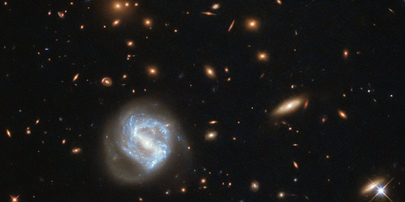 galaxy cluster nasa hubble image photo picture