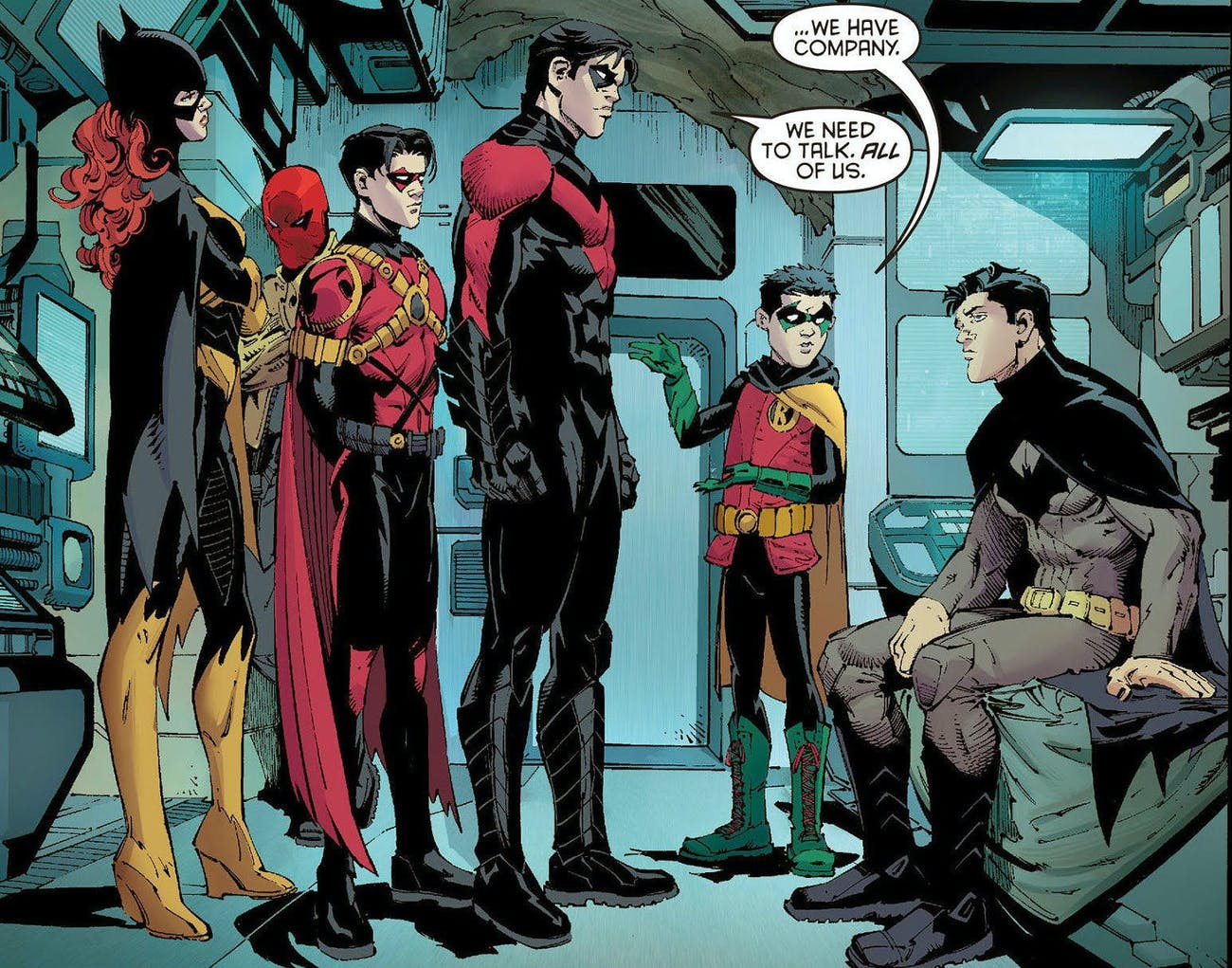 The Bat Family address Bruce Wayne.