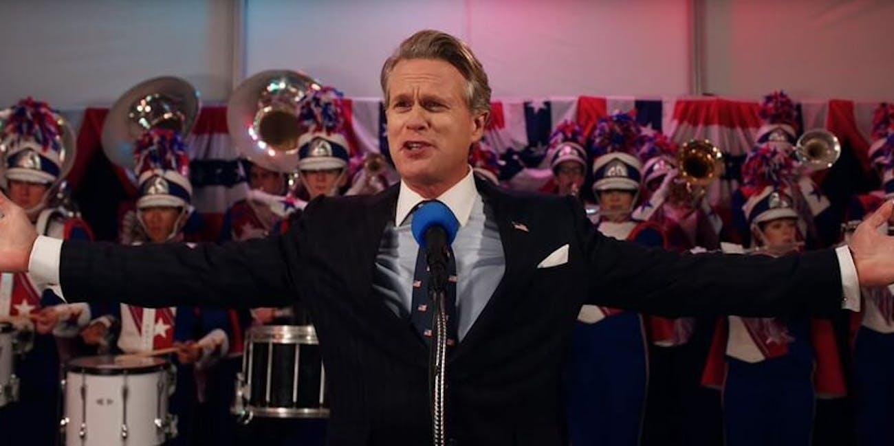 Cary Elwes plays the smug, corrupt Mayor Kline in Stranger Things Season 3.