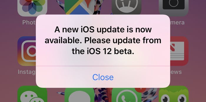 iOS 12 beta issues