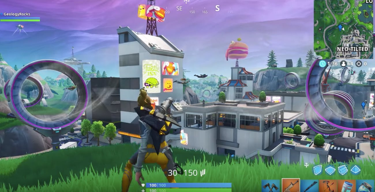 Fortnite Season 9 Map Changes Neo Tilted Towers Sky Platforms And