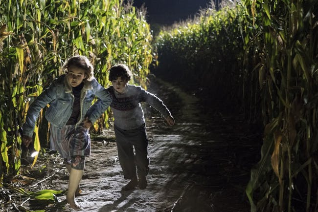Millicent Simmonds and Noah Jupe play siblings Regan and Marcus Abbott in 'A Quiet Place'.