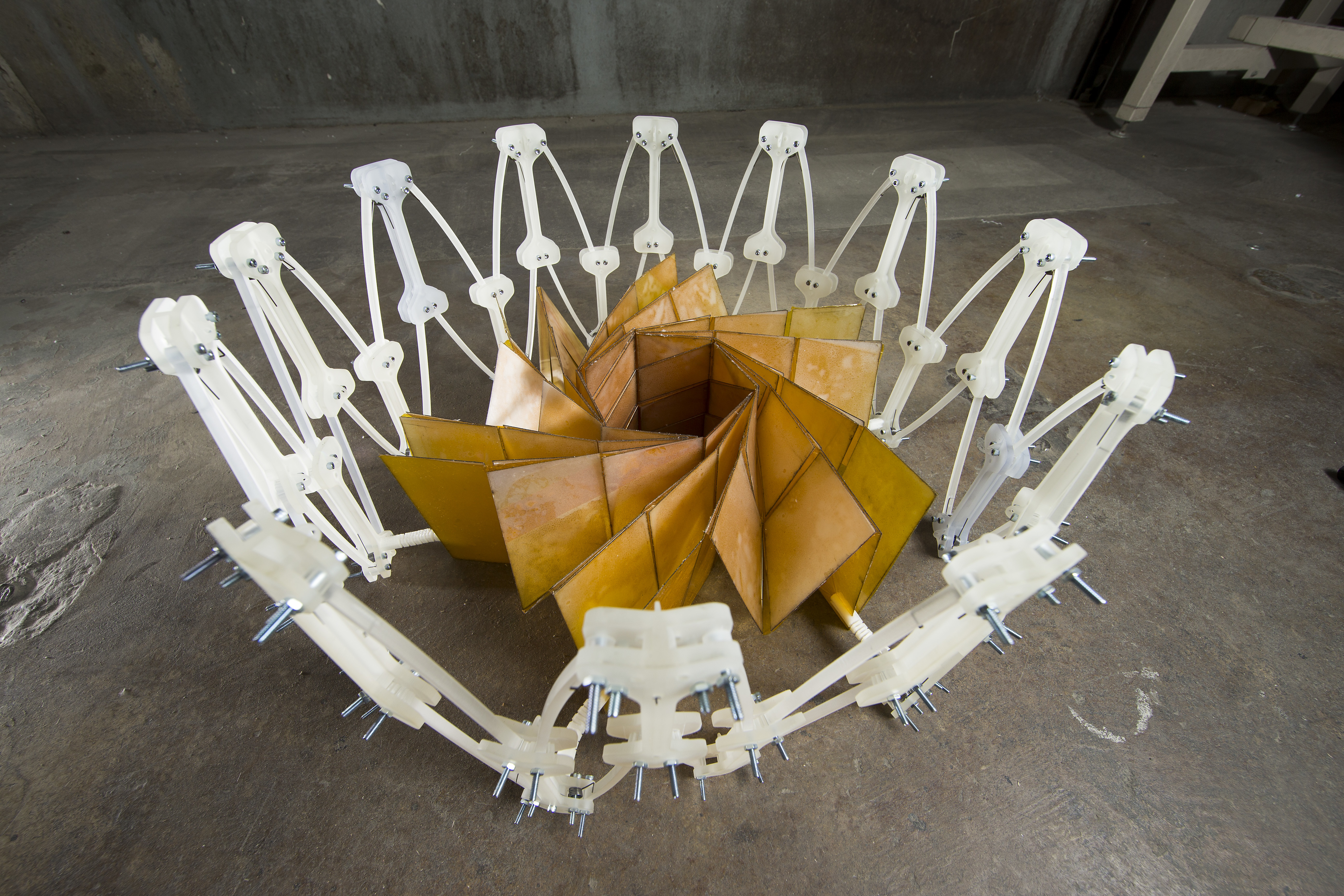In 2014, NASA and Brigham Young University researchers teamed up to make an origami solar panel that can be folded up used on small satellites.