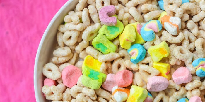 lucky charms cereal paint thinner