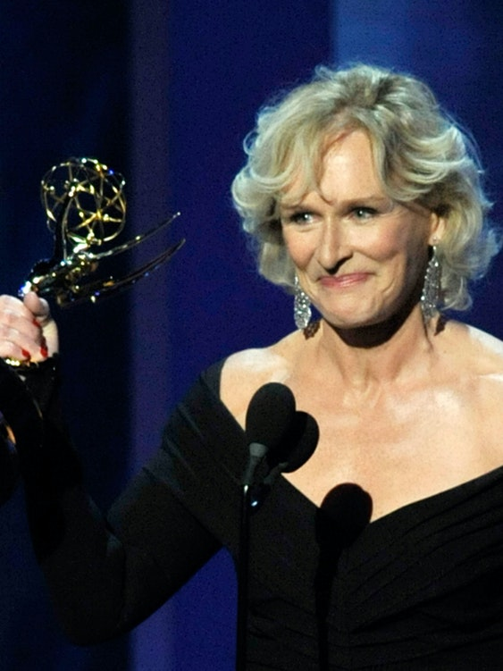 LOS ANGELES, CA - SEPTEMBER 20:  Actress Glenn Close accepts the Outstanding Lead Actress In A Drama Series award for 'Damages' onstage during the 61st Primetime Emmy Awards held at the Nokia Theatre on September 20, 2009 in Los Angeles, California.  (Photo by Kevin Winter/Getty Images)