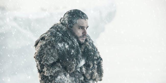 "Kit Harington as Jon Snow in 'Game of Thrones' Season 7 episode 6, ""Beyond the Wall'"
