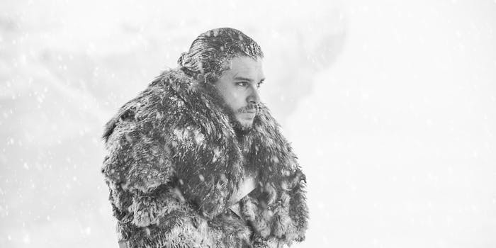 "Kit Harington as Jon Snow in 'Game of Thrones' Season 7 episode 6, ""Beyond the Wall'"
