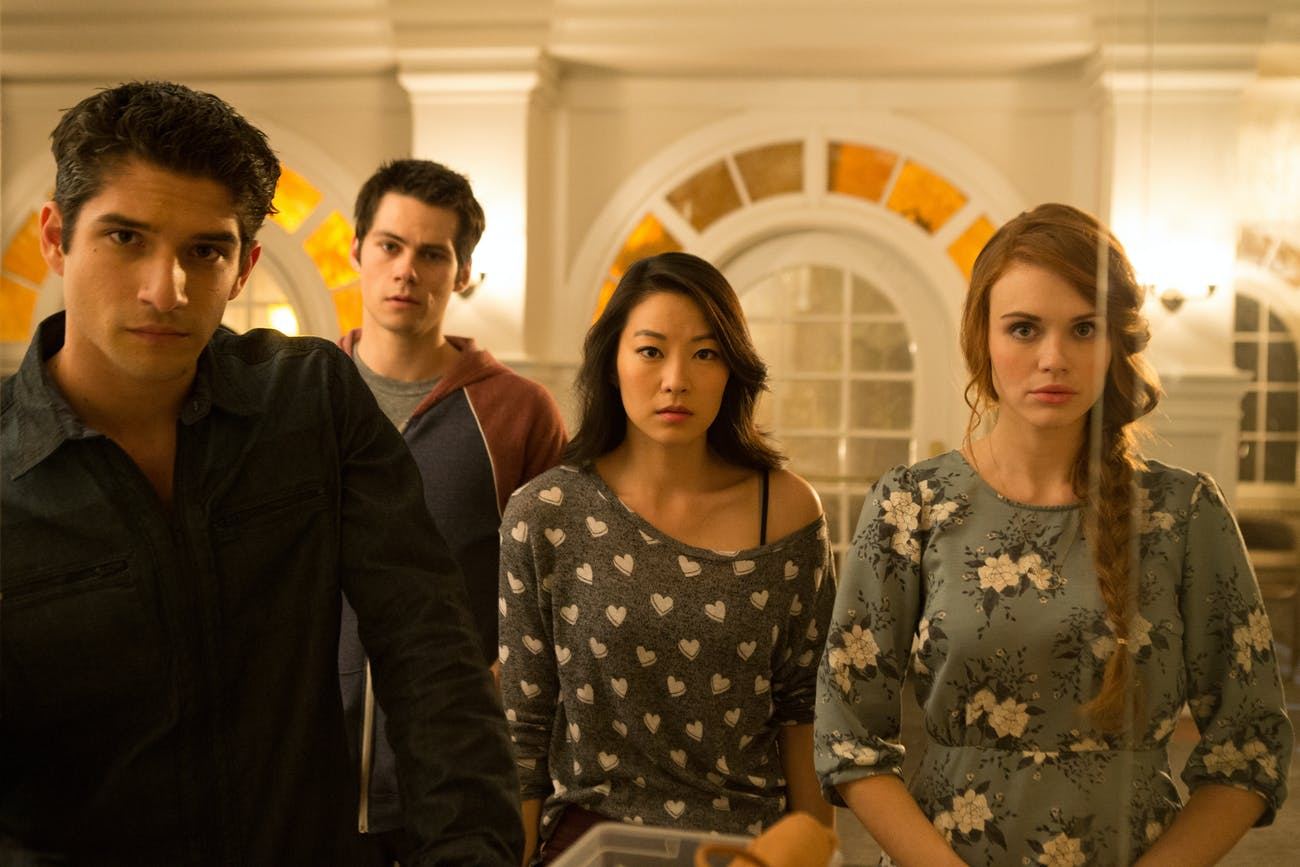 Scott McCall, Stiles Stilinski, Kira Yukimura, and Lydia Martin in 'Teen Wolf'.