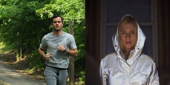 Justin Theroux as Kevin Garvey in 'The Leftovers' and Brit Marling as Prairie in 'The OA'