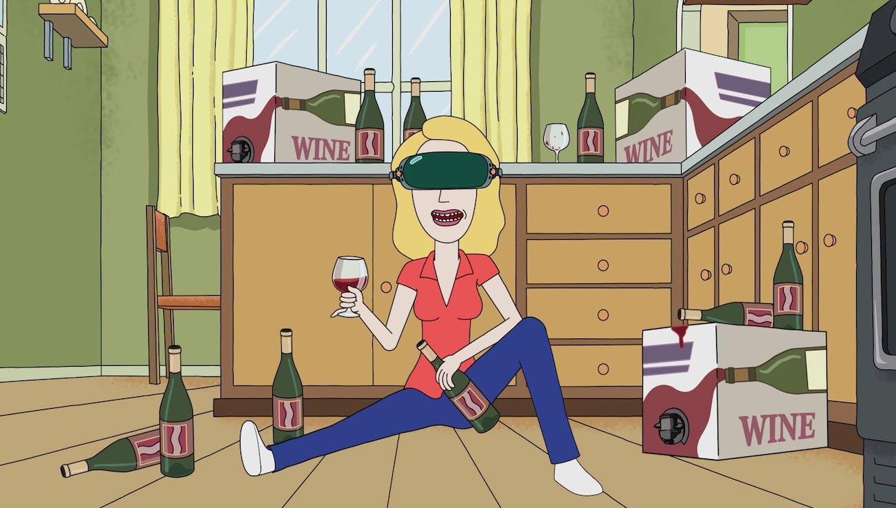 Beth loves red wine.