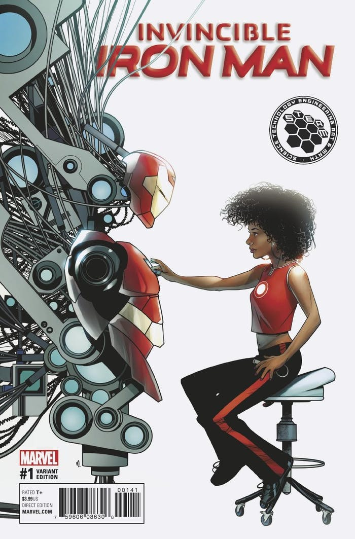 Riri Williams Iron Man STEAM Variant Ironheart