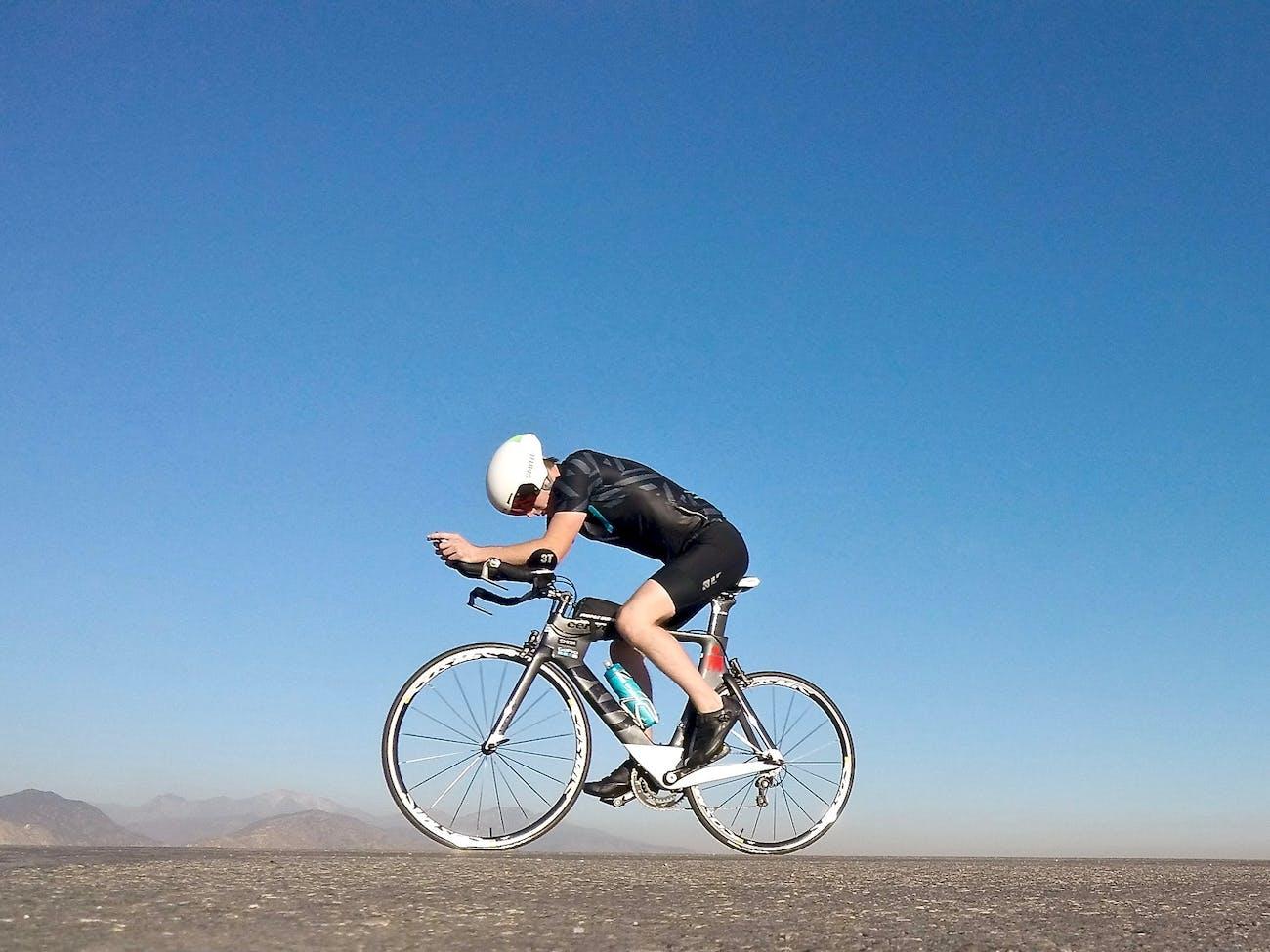 cycling, exercising