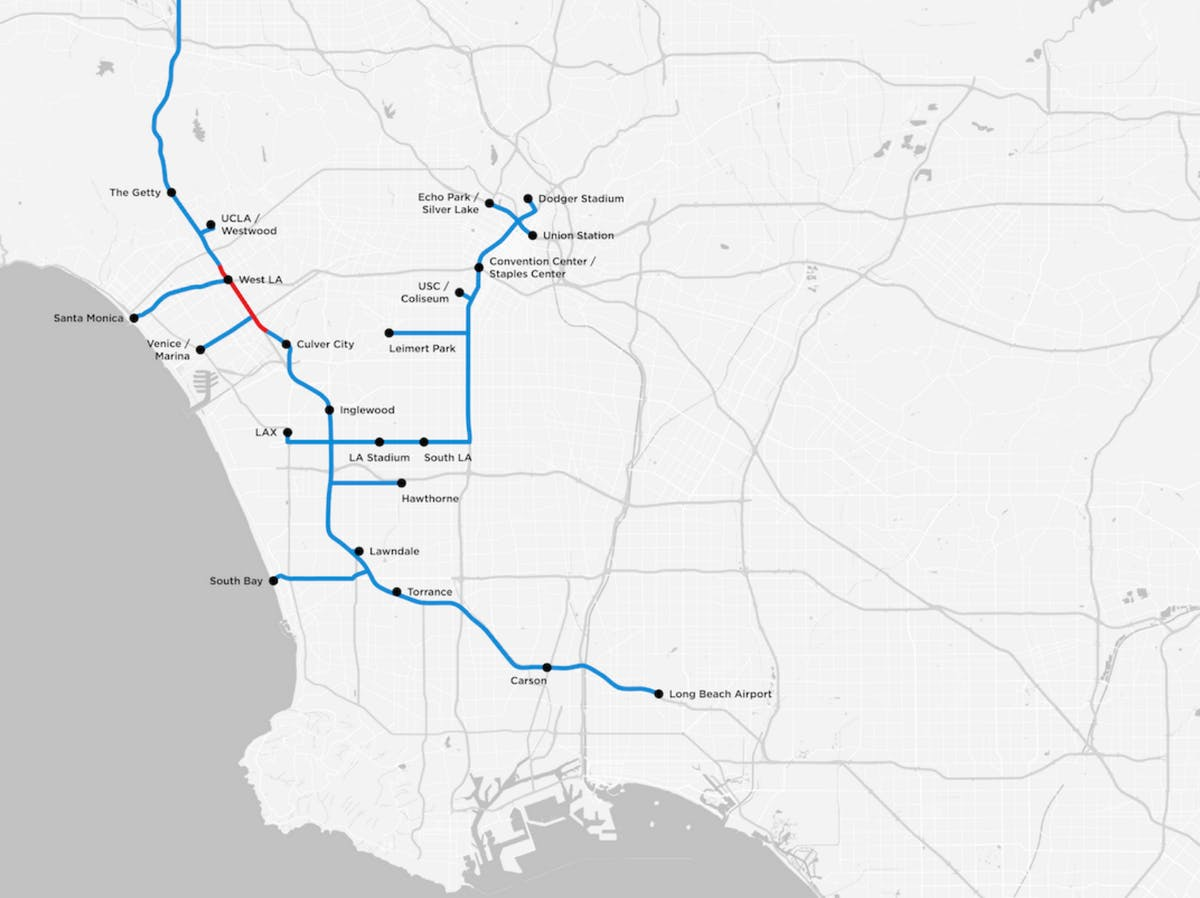 The proposed Boring Company loop system.