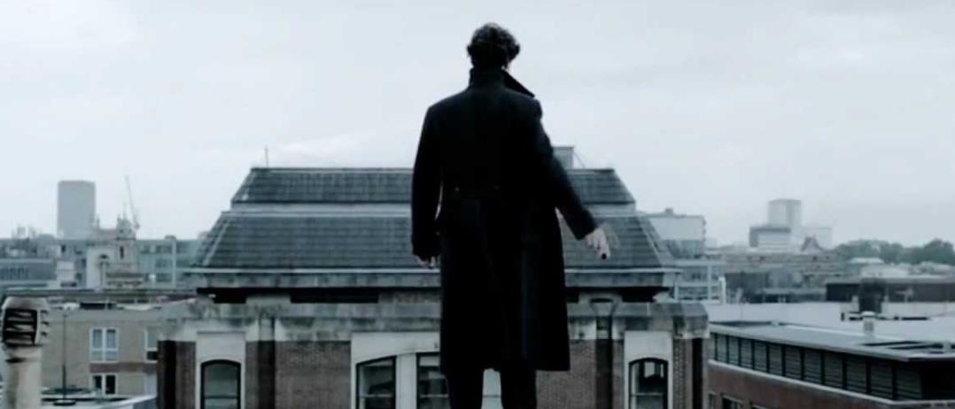 Sherlock, right before the jump.