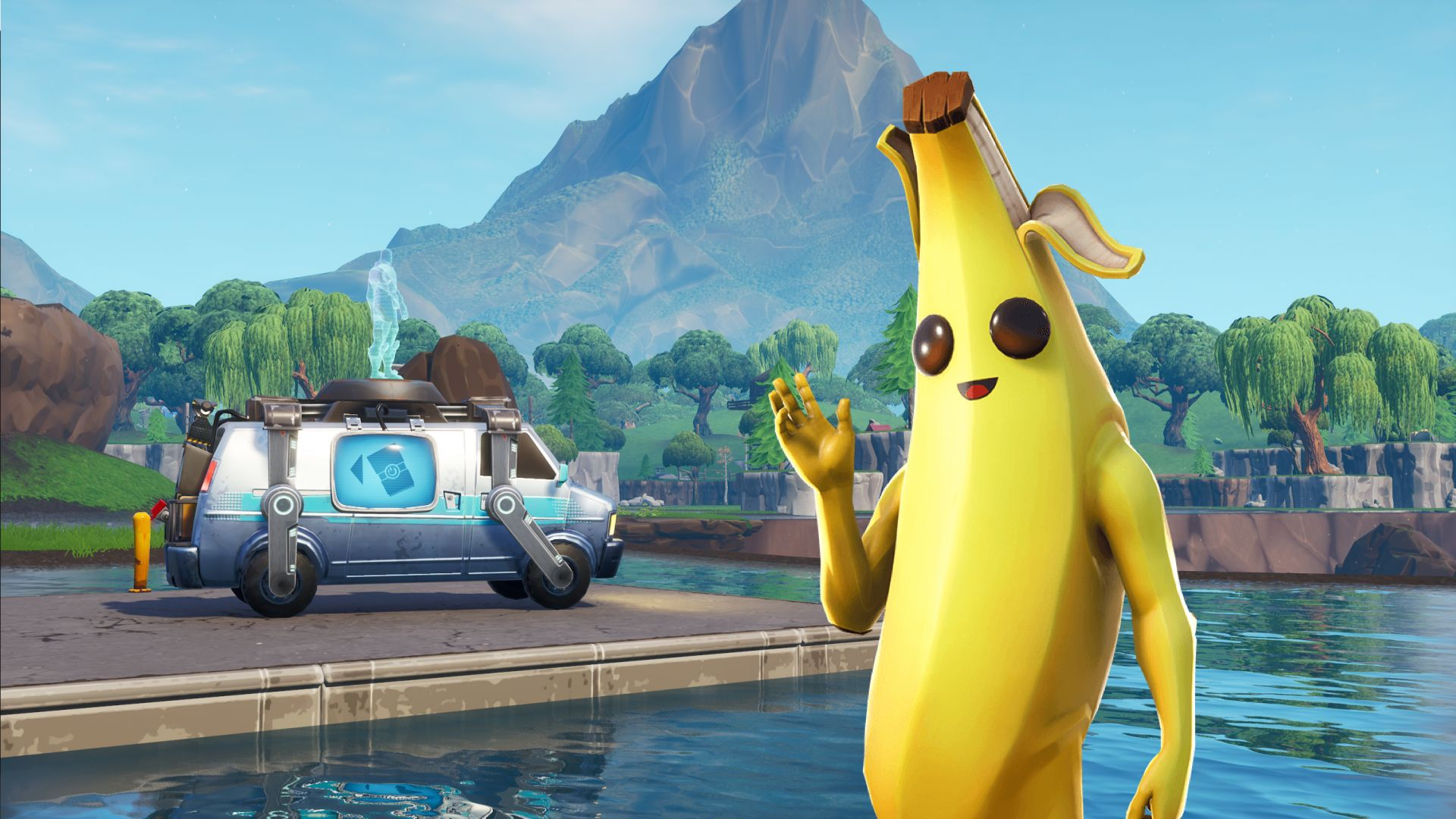 Banana Skin Fortnite Wallpaper Hd