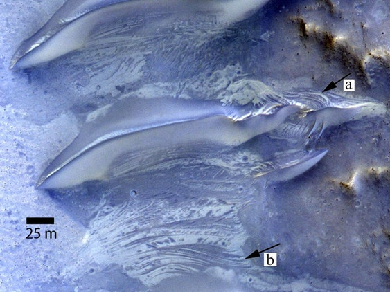Researchers studied a valley on Mars that was once flooded in water.  This may be an ideal place to search for extraterrestrial life.