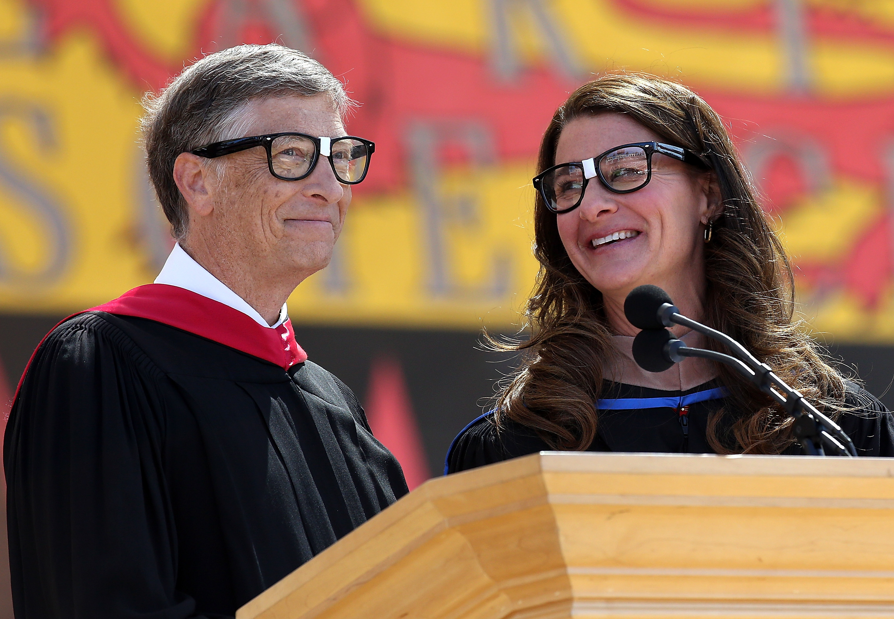 Melinda Gates with her husband, Bill.