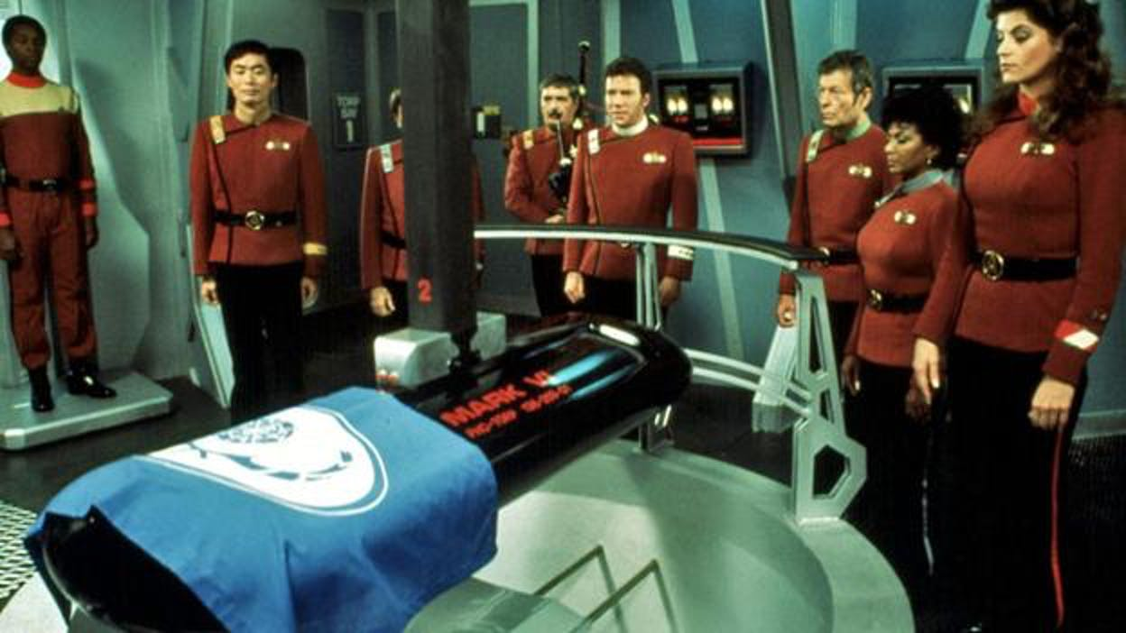 Spock's casket in 'Star Trek II: The Wrath of Khan'